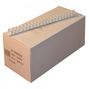 Пружини для палітурки пластикові Agent 22мм білі