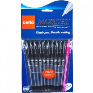 Ручка масляная MAXRITER 727 + 1 Cello черная
