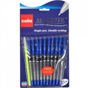 Ручка масляная MAXRITER 727 + 1 Cello синяя