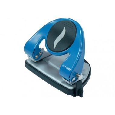 Дірокол до 20 л., Economix, метал. корпус, з лінійкою, синій E40117