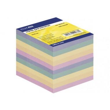 Бумага для заметок 90х90 мм Economix, 1000 л., Цветная E20938-99 непроклеєний