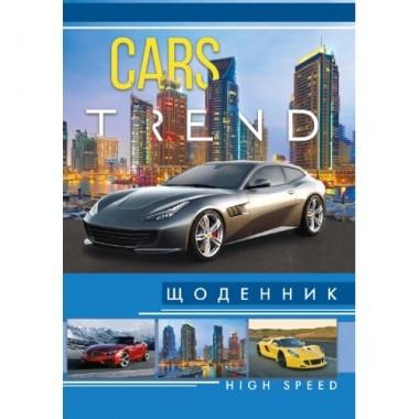 """Щоденник """"Супер"""" В5, """"Автомобілі"""", 48 л, 4 4, Щ-1-8"""