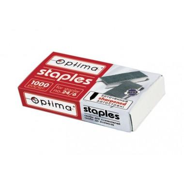 Скобы для степлера Optima, №24/6, 1000 шт, заостренные O40356