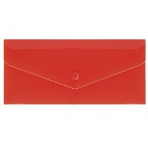 """Евроконверт Е65 прозрачный на кнопке, 180 мкм, фактура """"глянец"""", красный N31306-03"""