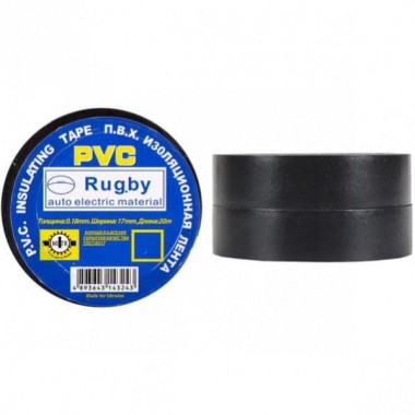 Изолента PVC 20 Rugby черная