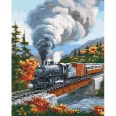 Картина по номерам Идейка Навстречу приключения 40 * 50см кисти + краски в комплекте