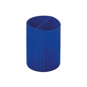 Підставка для ручок на 2 відділення, пластик, синя