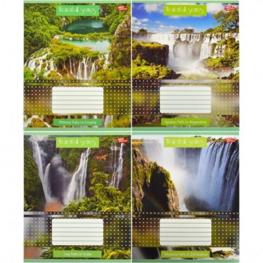 Зошит кольорова 36 аркушів, лінія «Водоспади»