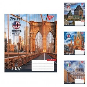 Тетрадь клетка YES Travel, тетрадь для записей