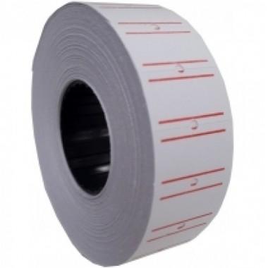 Этикетки-ценники 21х12 мм Economix, 1000 шт / рул., Белые с красной полосой E21301-15