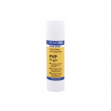 Клей карандаш Economix, основа PVP, 21г E41220