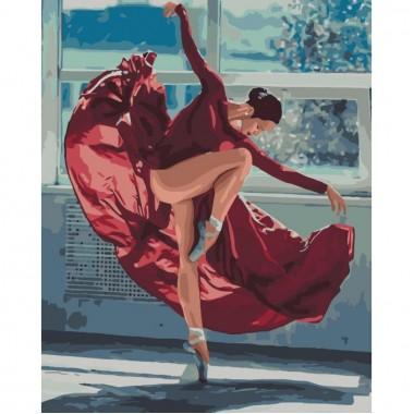 Картина за номерами Люди  Танець вогню  40*50см
