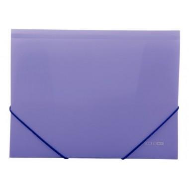 "Папка пластикова А4 на гумках Economix, фактура ""помаранч"", фіолетова"
