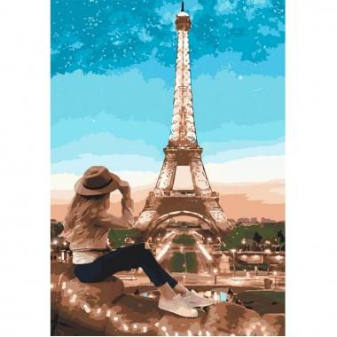 Картина по номерам Идейка Путешественница 35 * 50 см кисти + краски в комплекте