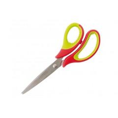 Ножницы 15 см Optima, пласт. ручки с резин. вставками O44418