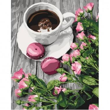 Картина за номерами  Романтична кава  40*50см