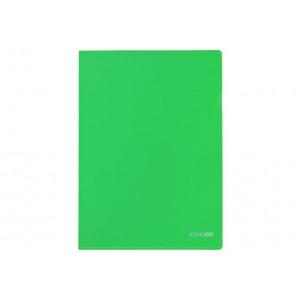 Папка-куточок А4 Economix, 180 мкм, фактура глянець, зелений
