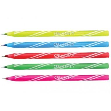 Ручка шариковая CANDY, ассорти пишет синим