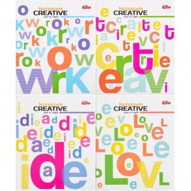 Зошит кольорова 96 аркушів, клітинка «Креативна зошит»