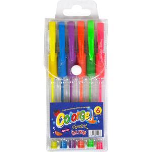 Набір ручок гелевих неонових 6 кольорів