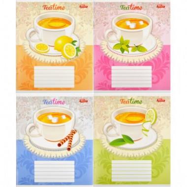 Зошит кольорова 36 аркушів, лінія «Час чаю»
