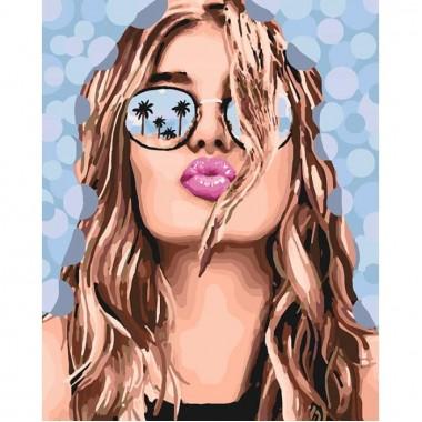 Картина за номерами Люди  Поцілунок літа  40*50см
