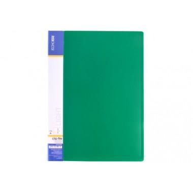 Папка-скоросшиватель А4 с пружинным механизмом Economix CLIP A Light, зеленая