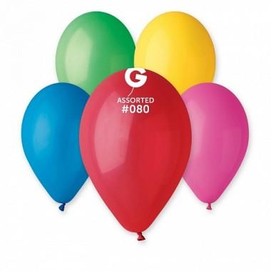 """Кульки надувні, латексні 100 шт. в упаковці асорті G110 """"12"""